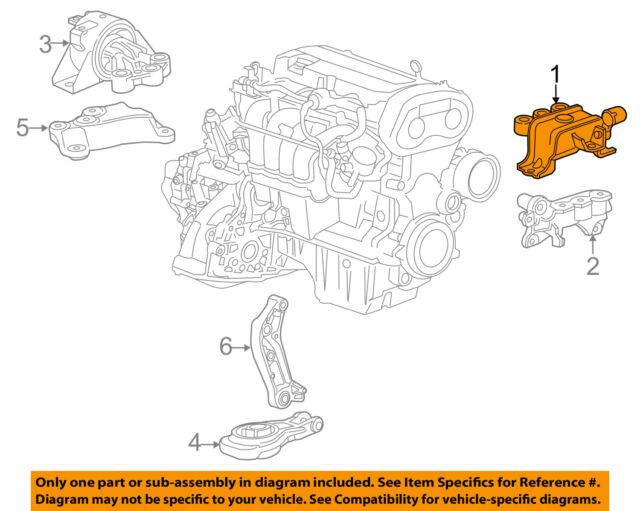 Chevrolet GM OEM 12-15 Sonic-engine Torque Strut Mount 95133816 for