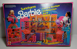Vtg Barbie 1990 Suncharm Clothing Boutique Playset 8778