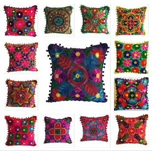 Indian Suzani Ethnic Vintage Cushion Cover Covers