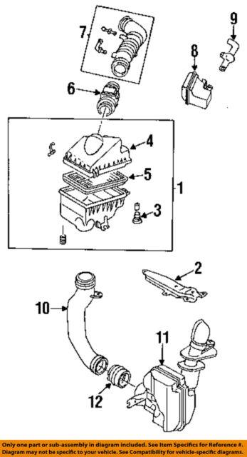 1998 Mazda Protege 18 4cyl Air Intake Hose OEM for sale online eBay