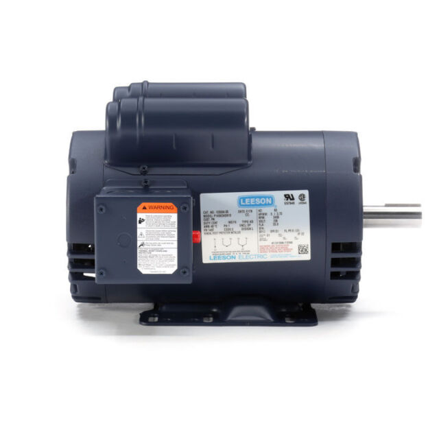 5 HP 3450 RPM Air Compressor Electric Motor 230v LEESON 120554 for