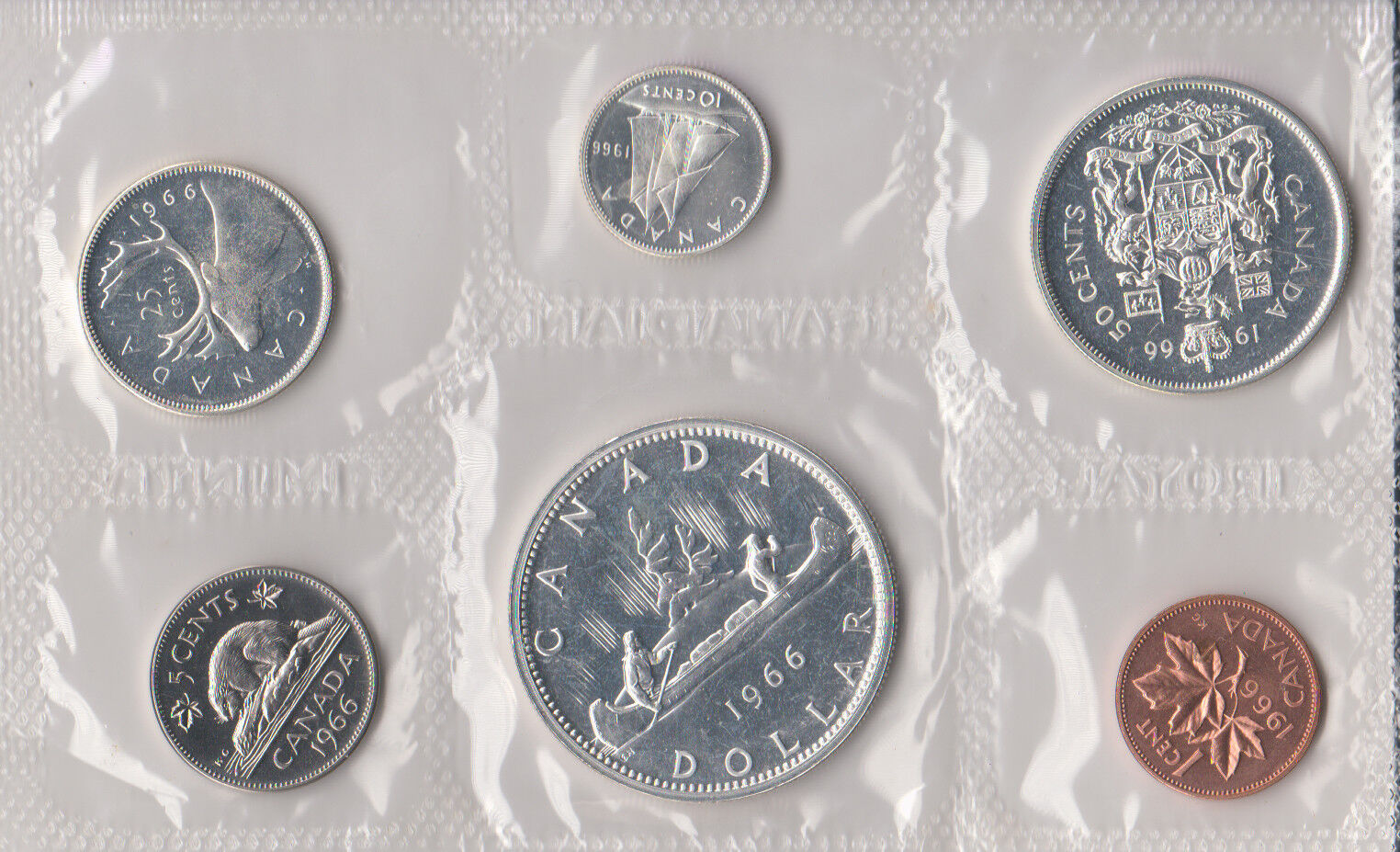 Mint Set Details About 1966 Canada Sealed Proof Like Mint Set 6 Coins Total 4 Silver Coins 80 800