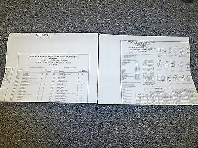New Holland CR9070 CR9080 Combine Electrical Wiring Diagram Manual