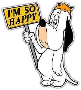 Droopy dog funny happy room cartoon car bumper window