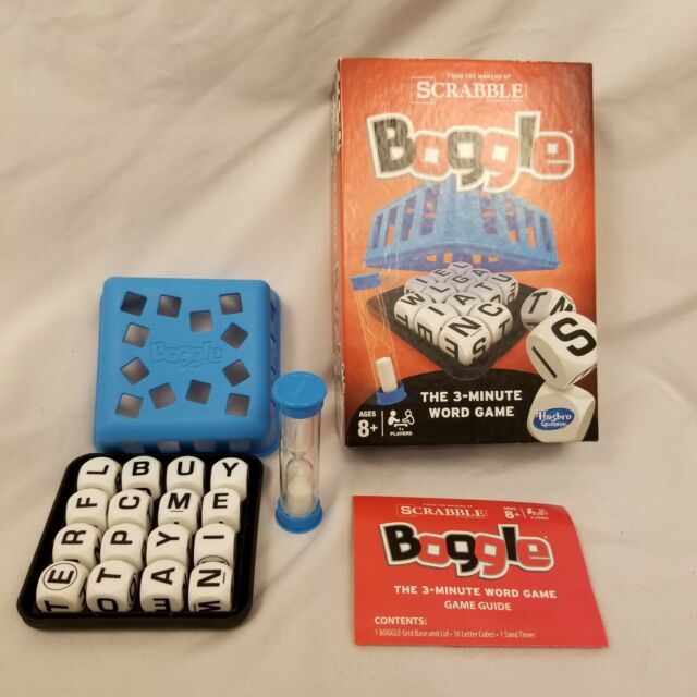 Boggle 3 Minute Word Game Hasbro Dice Timer eBay