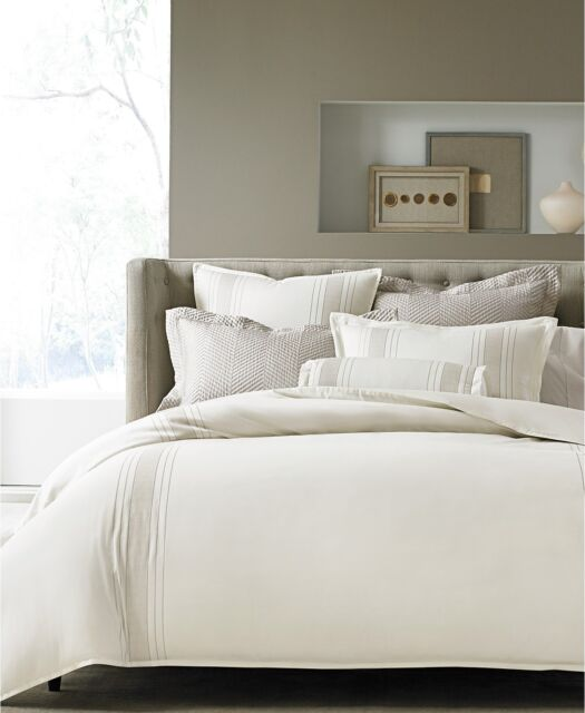 Hotel Collection Woven Accent White Full Queen Duvet