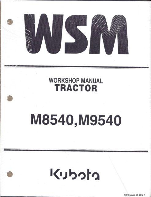 Kubota M8540 M9540 Tractor Workshop Service Repair Manual for sale