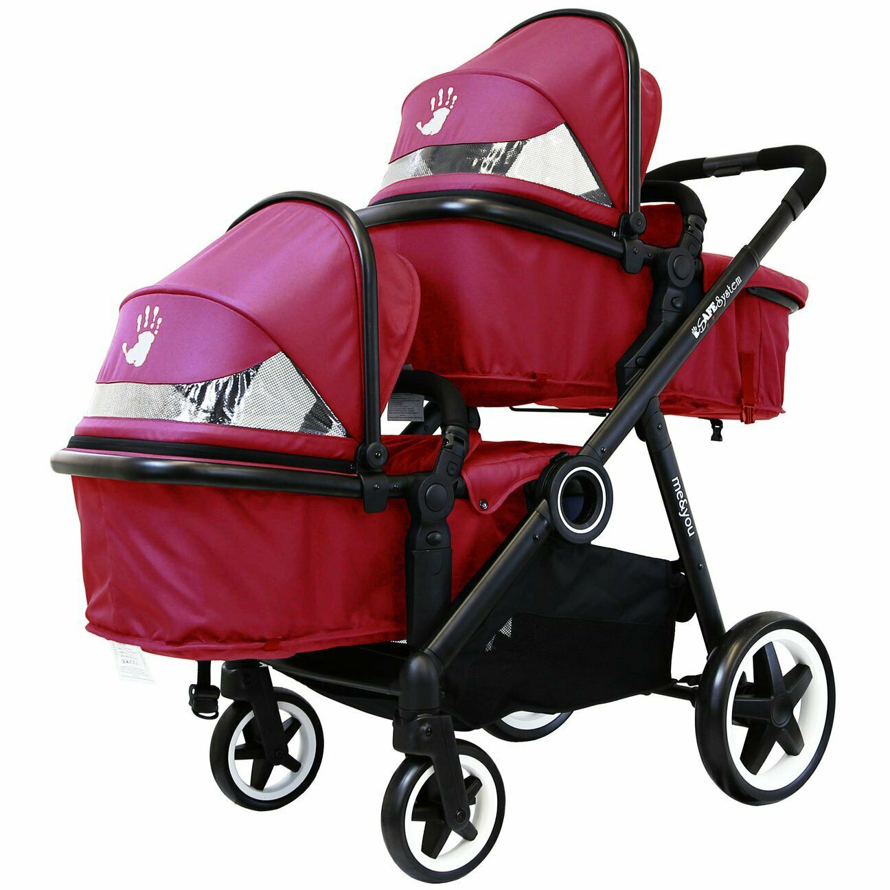 Double Stroller Rain Cover Isafe Baby Lightweight Double Twin Tandem Pram Stroller Buggy Inc Raincover