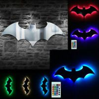 Batman Logo Mirror Wall Light Dark Knight Bat Symbol Logo ...