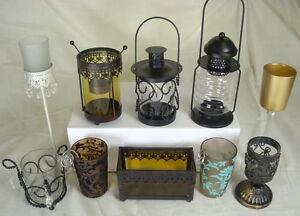 Gothic Glass Tea Light Votive Candle Holders Hurricanes
