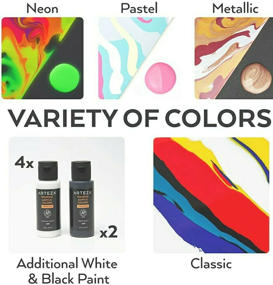 Arteza Acrylic Pouring Paint Set 32 Assorted Colors For Sale Online Ebay