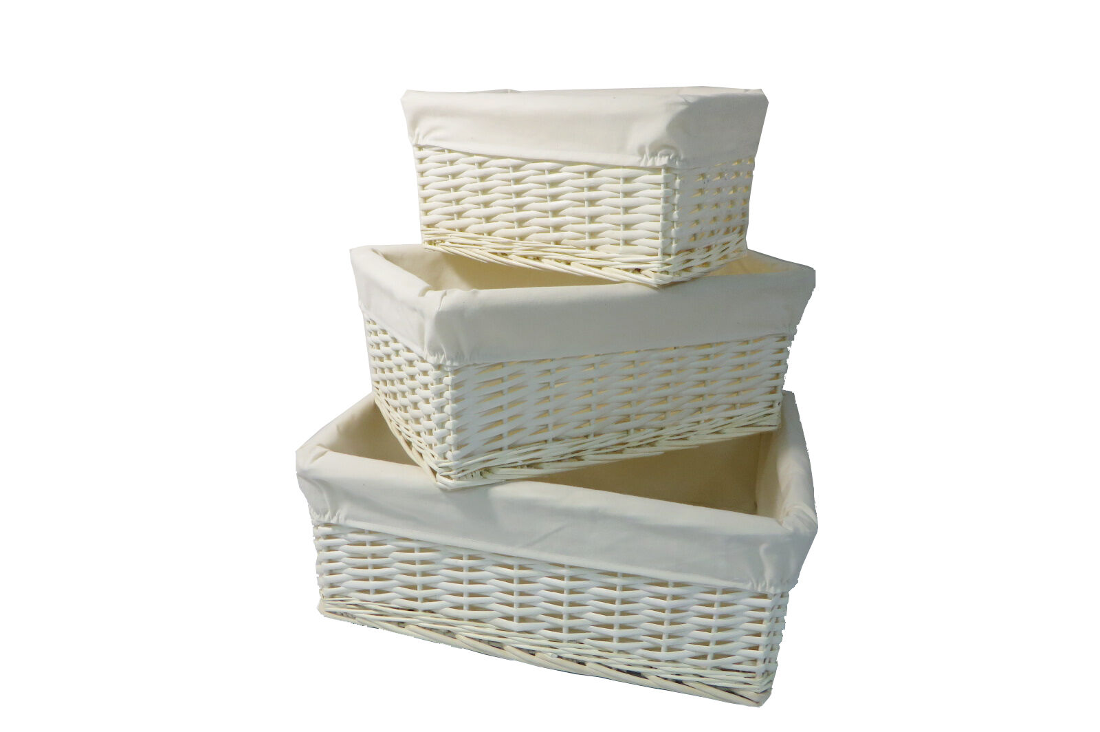 White Hamper With Liner White Wicker Storage Basket With Lining Gift Hamper In