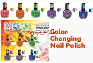 Full Set Of 6 Mia Secret Mood Color Changing Nail Polish
