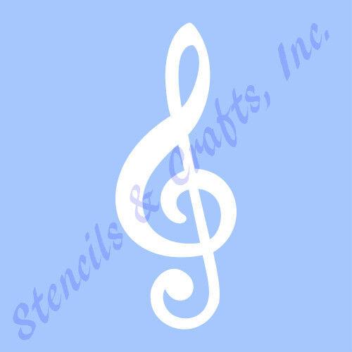 5\ - treble clef template