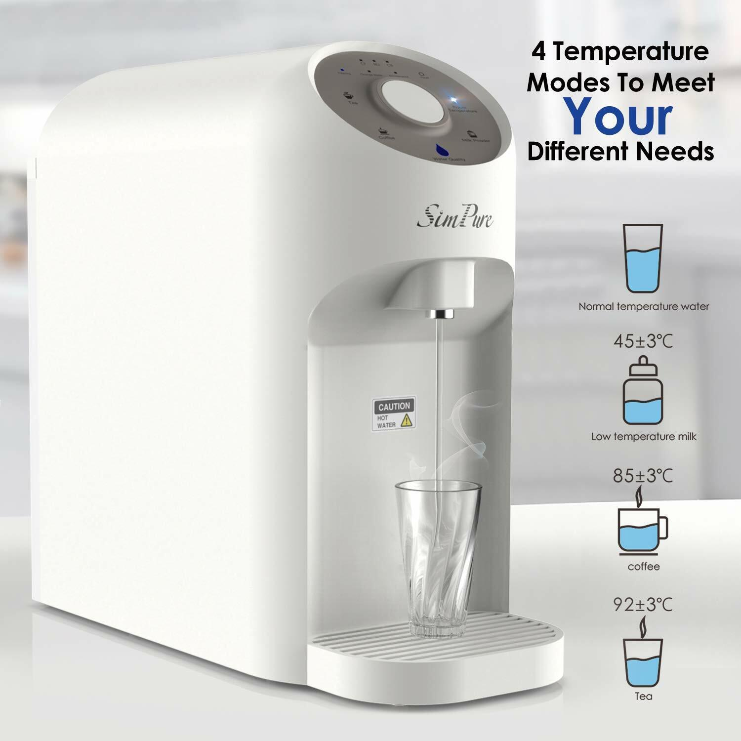 Countertop Ro Water Filter System Hot Kettle Dispenser Etra 6 Months Filters Ebay