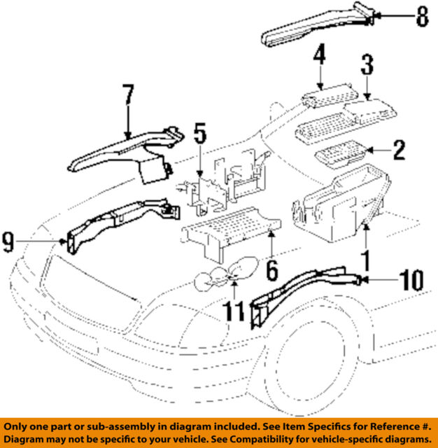 1990-2002 MERCEDES BENZ Sl500 R129 Engine Bay Cover A1298201878