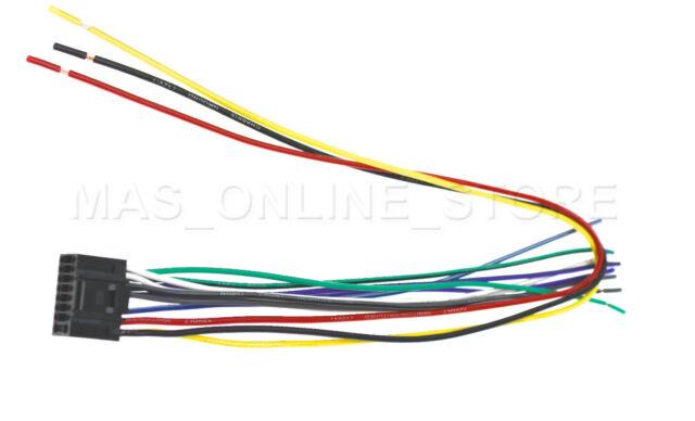 Wire Harness for Kenwood Kdc-mp142 Kdcmp142 Kdc-mp142cr Kdcmp142cr