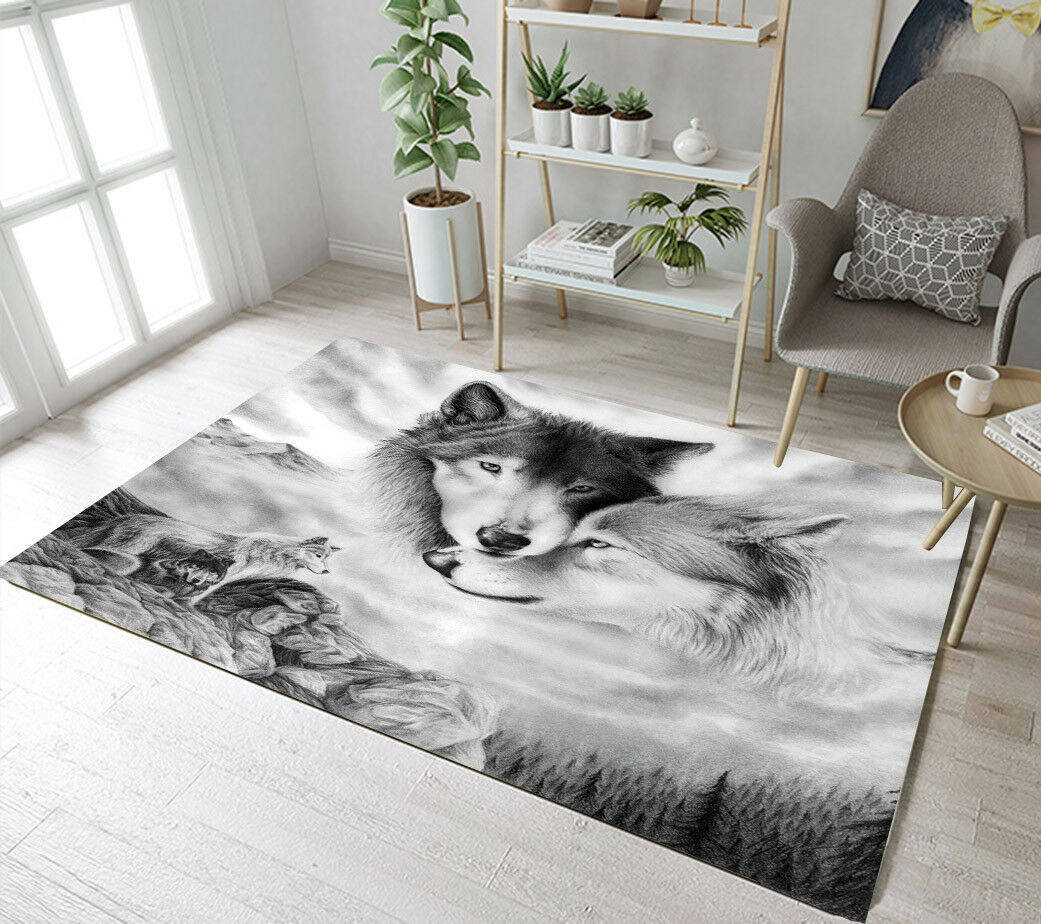 Best Paint Colors For Playroom Floor Rug Mat Wild Animals Wolf Scenic Kids Bedroom Carpet Living Room Area Rugs