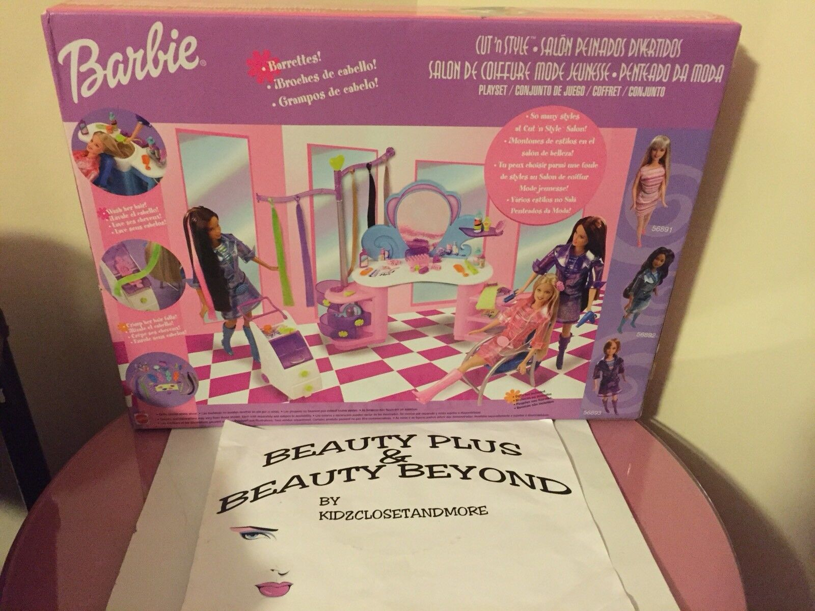 Juego Barbie Salon De Belleza Mattel 2002 Barbie Cut N Style Beauty Salon Hard To Find