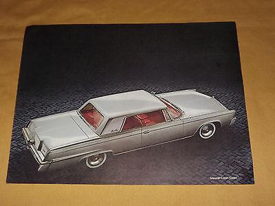 VINTAGE 1965 CHRYSLER IMPERIAL CROWN COUPE OLD CAR BROCHURE eBay