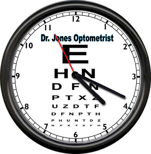 Optometrist Eye Dr Vision Chart Personalized Your Name Gift Sign