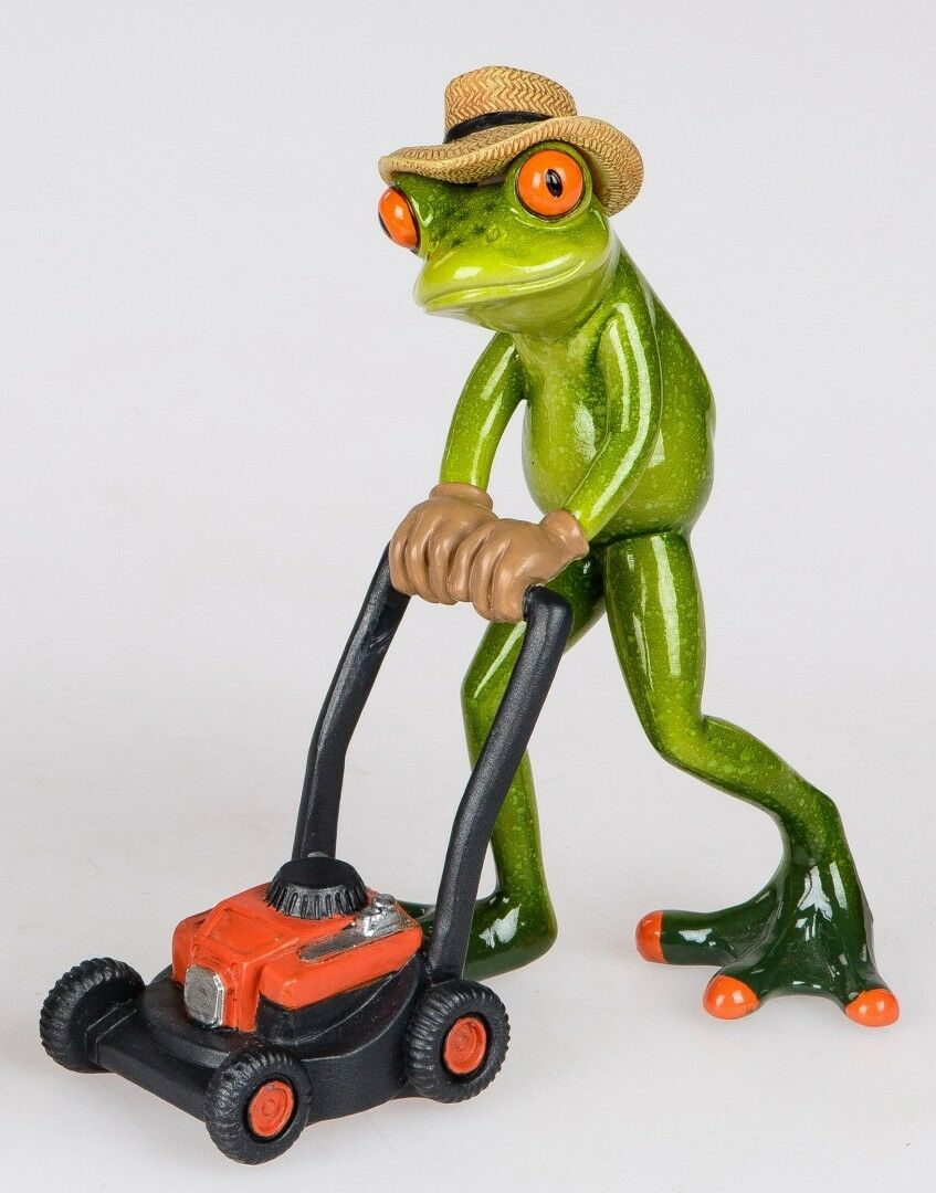 Formano Online Shop Formano Decorative Frog Figure Gardener With Lawn Mower Handpainted
