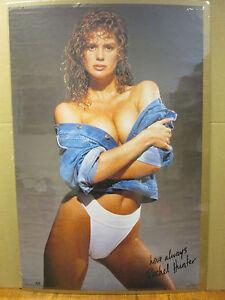 Hawaiian Tropic Girl Wallpaper 1990 Rachel Hunter Hot Girl Man Cave Car Garage Original