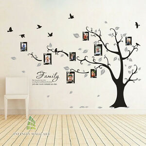 Black And White Wallpaper Bedroom Ideas Family Tree Bird Photo Frame Vinyl Nursery Wall Quotes