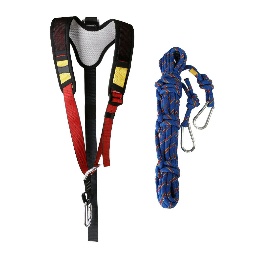 Gamma Campingstoel Adjustable Sit Harness Shoulder Strap With 10m Climbing Rope