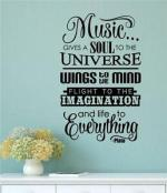 Music Gives Soul To The Universe Vinyl Wall Art A