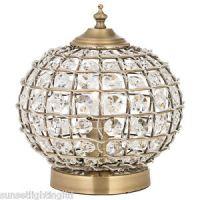 Moroccan Style Tanaro Antique Brass & Crystal Beading ...