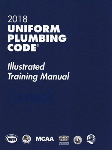 2018 Uniform Plumbing Code Illustrated Training Manual With Tabs for