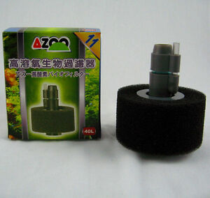 Aquarium Sponge Filter 10 gal 40L fish tank Oxygen Plus Bio Filter air