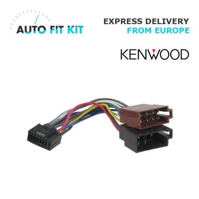 Kenwood 16 Pin ISO Wiring Harness Loom Adaptor Wire Radio Connector