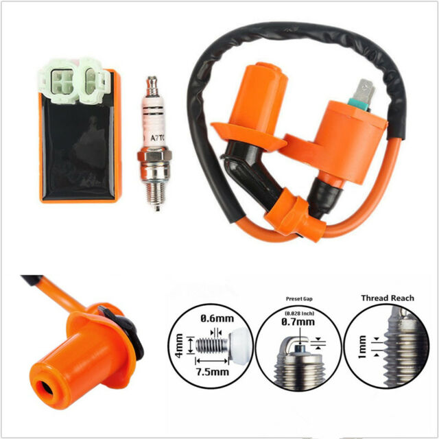 Racing Scooters ATVs Professional Ignition Coil Spark Plug CDI for