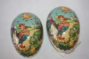 Vintage German Paper Mache Candy Container Easter Egg