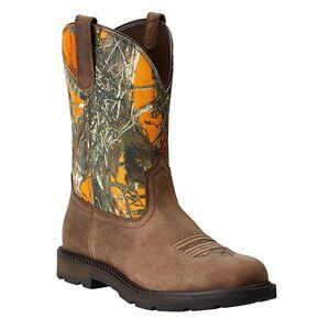 Ariat Men39s Groundbreaker Camo Orange Boot 10014242 Ebay