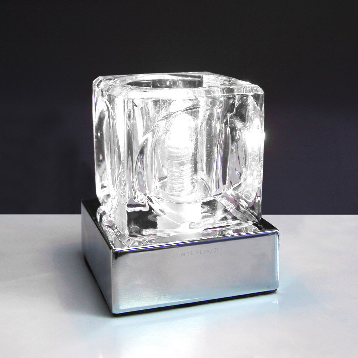 Bedside Lamp With Dimmer Switch Dimmable Touch Table Light Glass Ice Cube Bedside Study