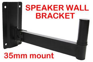 Heavy Duty Adjustable Black Wall Pa Speaker Stand Bracket
