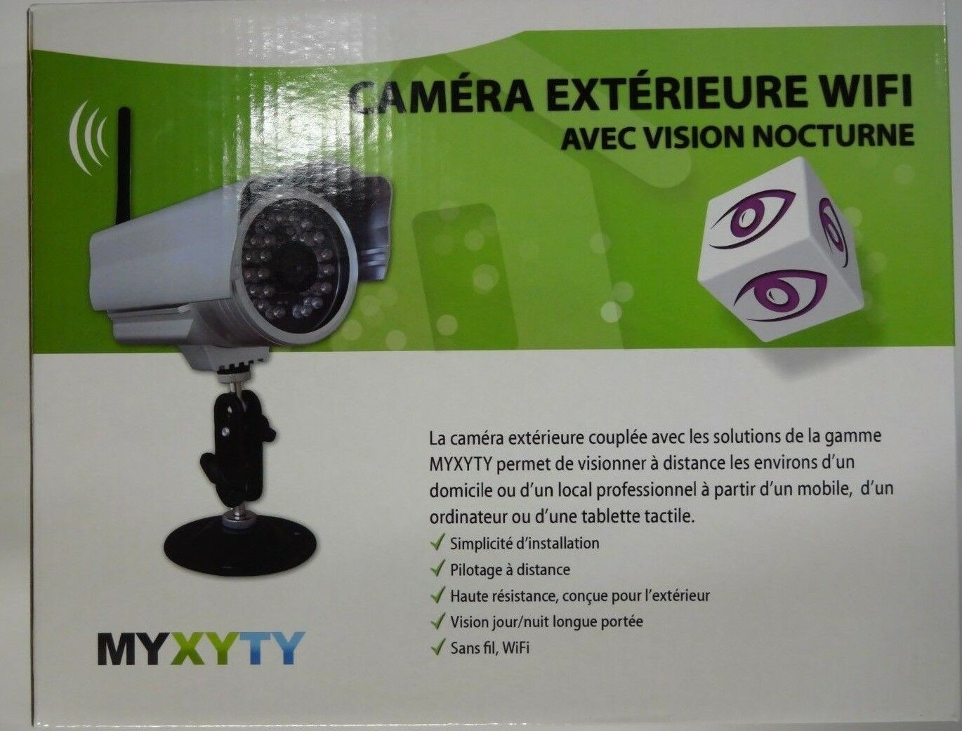 Camera De Surveillance Sans Fil Exterieur Professionnel Myxyty Camera Wifi Outdoor Night Vision Scope 30m Reso Video 640x480