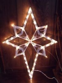 CHRISTMAS OUTDOOR LIGHTED NATIVITY SET STAR OF BETHLEHEM ...