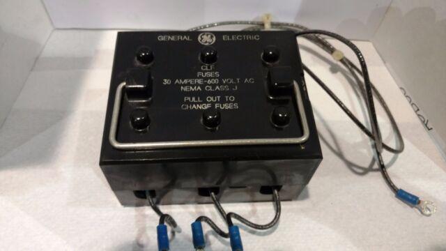 General Electric CLF Fuses Box NEMA Class J 30 Amp 600 Volt (FU090