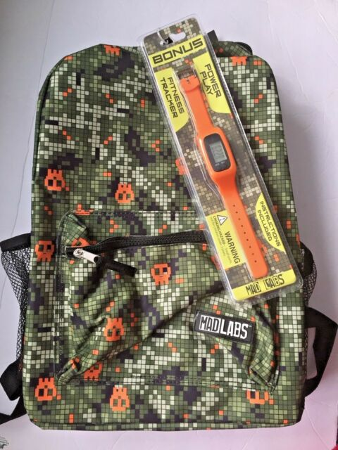 Mad Labs Backpack, Book Bag with Fitness Tracker NWT eBay