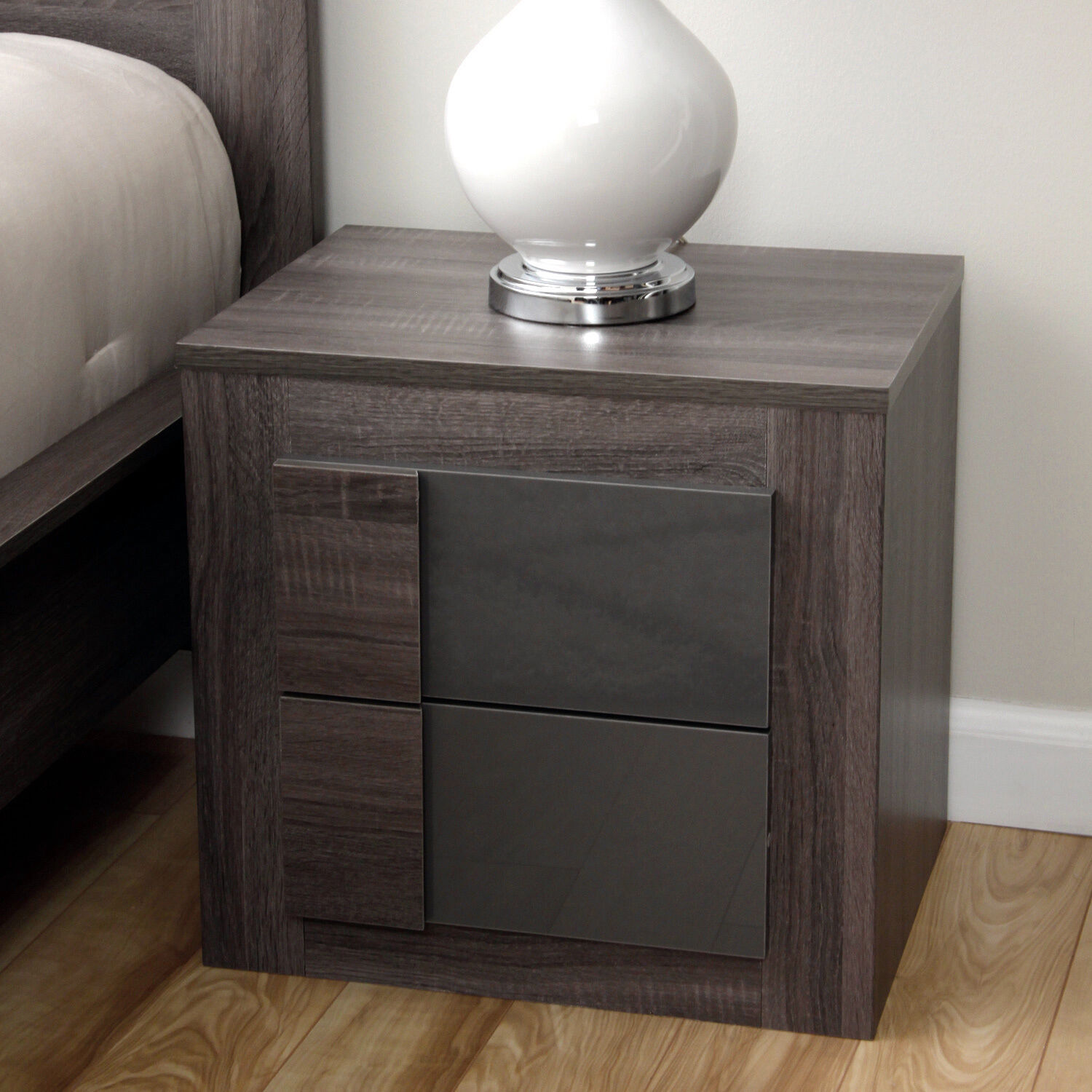 Modern Bed Stand 2 Drawer Night Stand Table Modern Bedroom Furnishing Bed