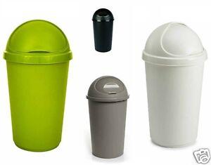 Plastic Bullet Bin 50 30 Litre Rubbish Waste Bins