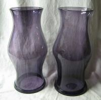 Pair 14 Blenko Glass Williamsburg Amethyst Purple ...