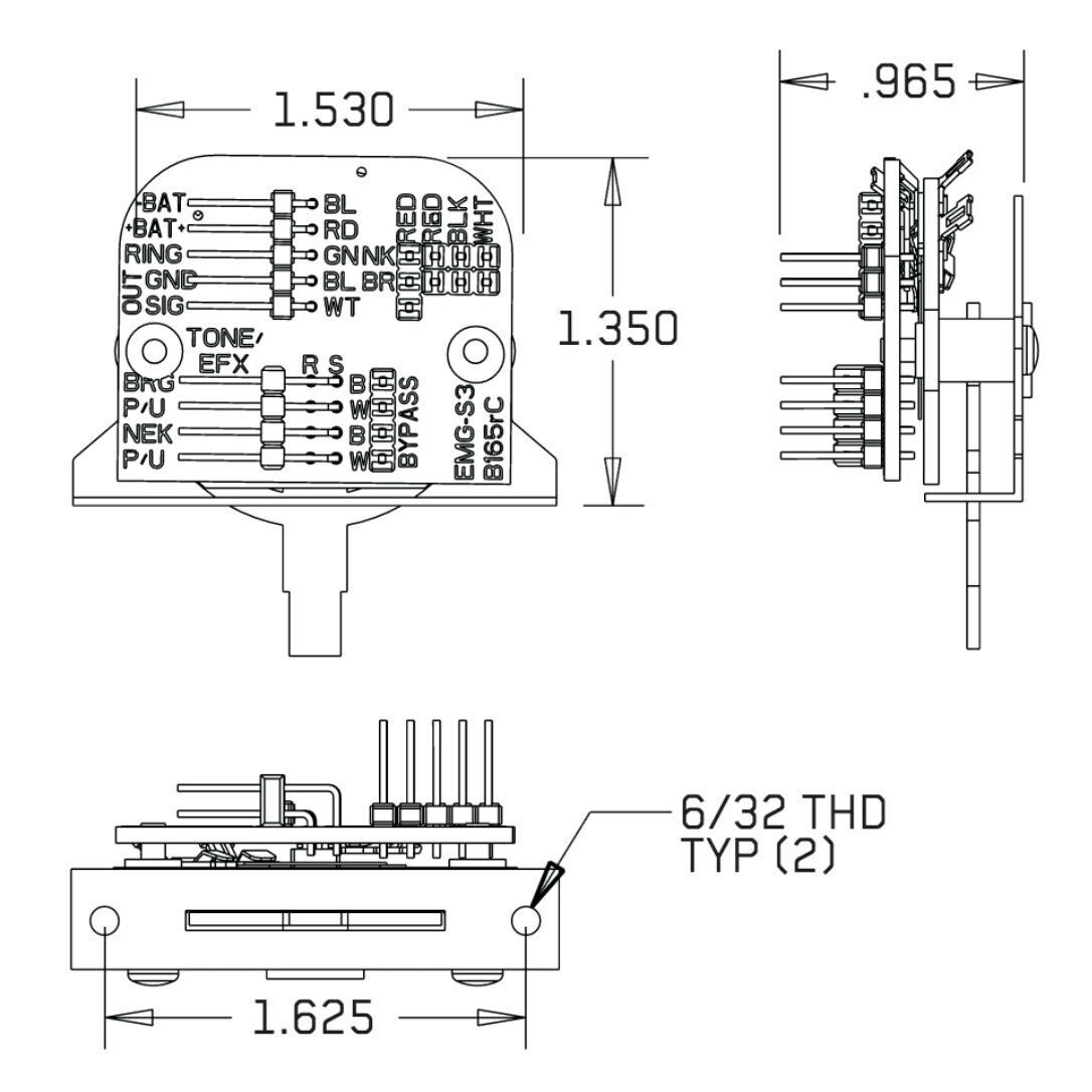 emg solderless switch wiring diagram