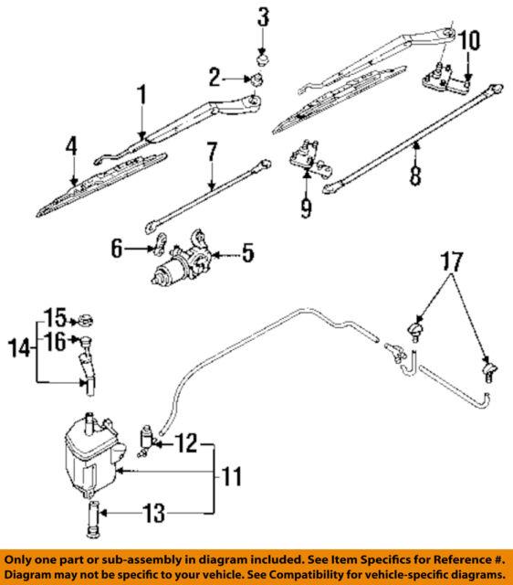Infiniti Nissan OEM 91-96 G20-windshield Wiper Motor Transmission