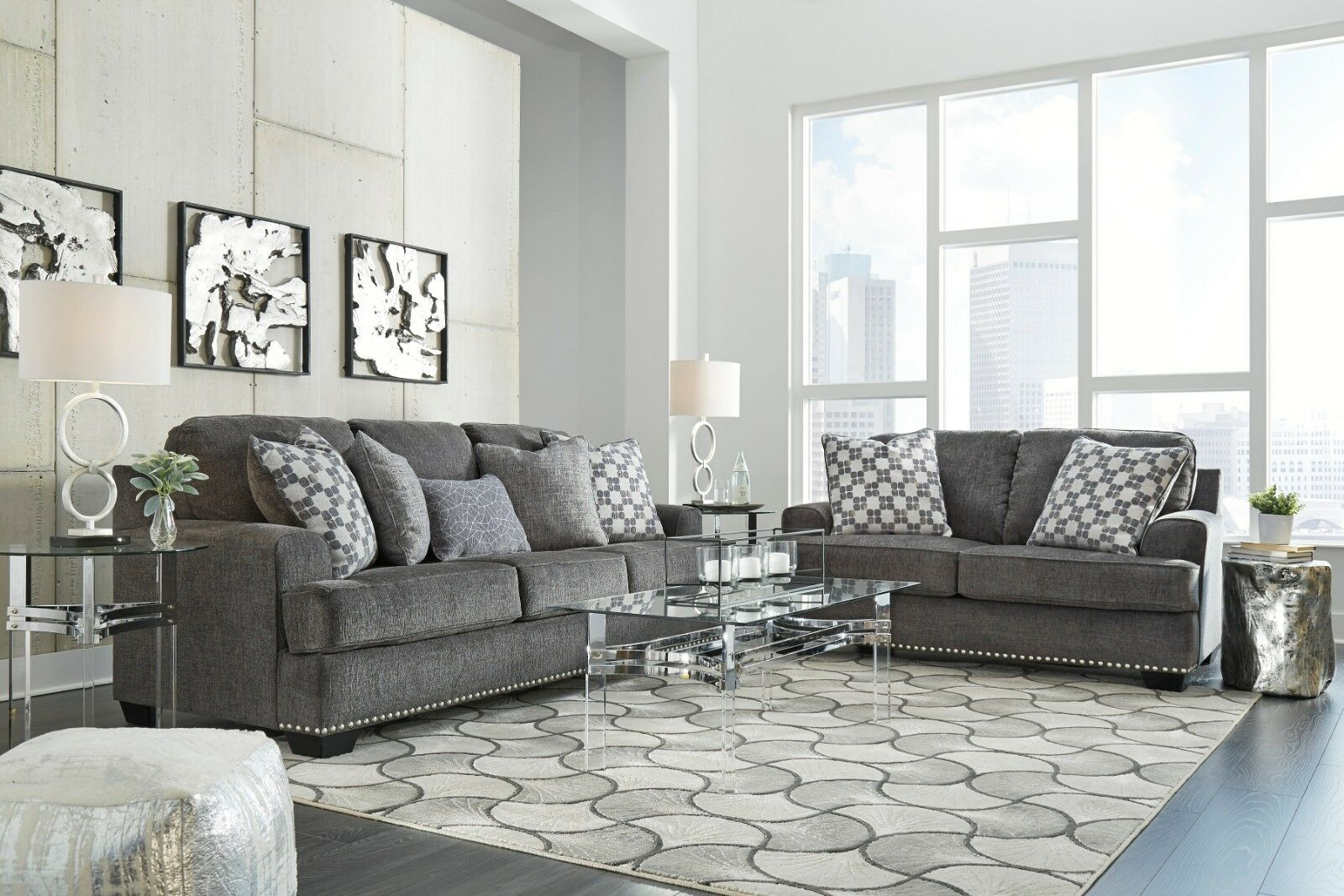 Sofa For Living Room Online Ashley Furniture Locklin Sofa And Loveseat Living Room
