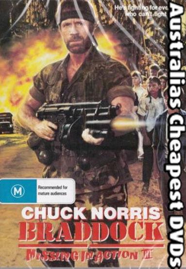 Braddock Missing in Action 3 DVD Postage Within Australia Region 4